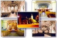 Interiér kostela, noční pohled - kostel Všech svatých