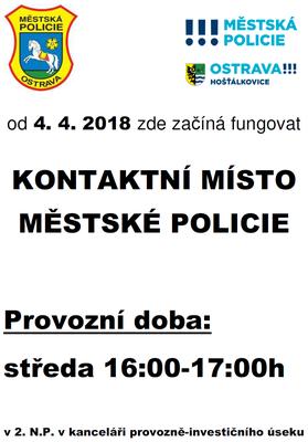 Kontaktní místo městské policie
