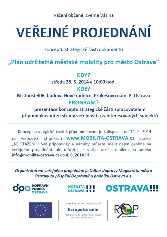 Plán udržitelné městské mobility pro město Ostrava