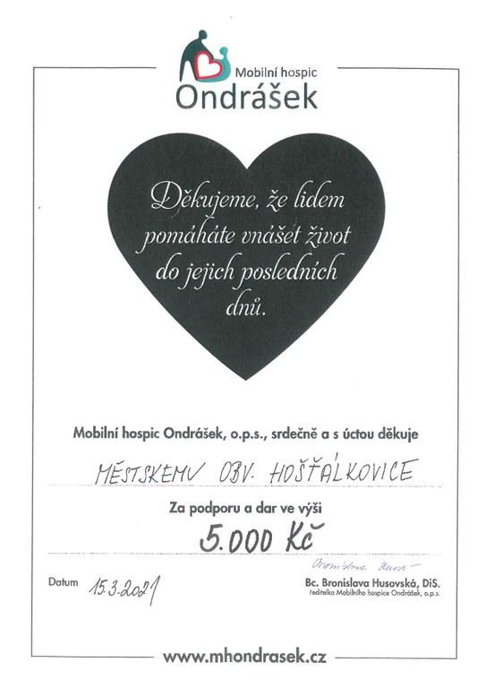 Pomáháme Mobilnímu hospici Ondrášek