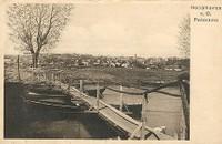 Pontonová lávka přes řeku Odru
